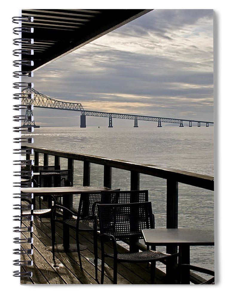 Scenic Spiral Notebook featuring the photograph Astoria by Lee Santa