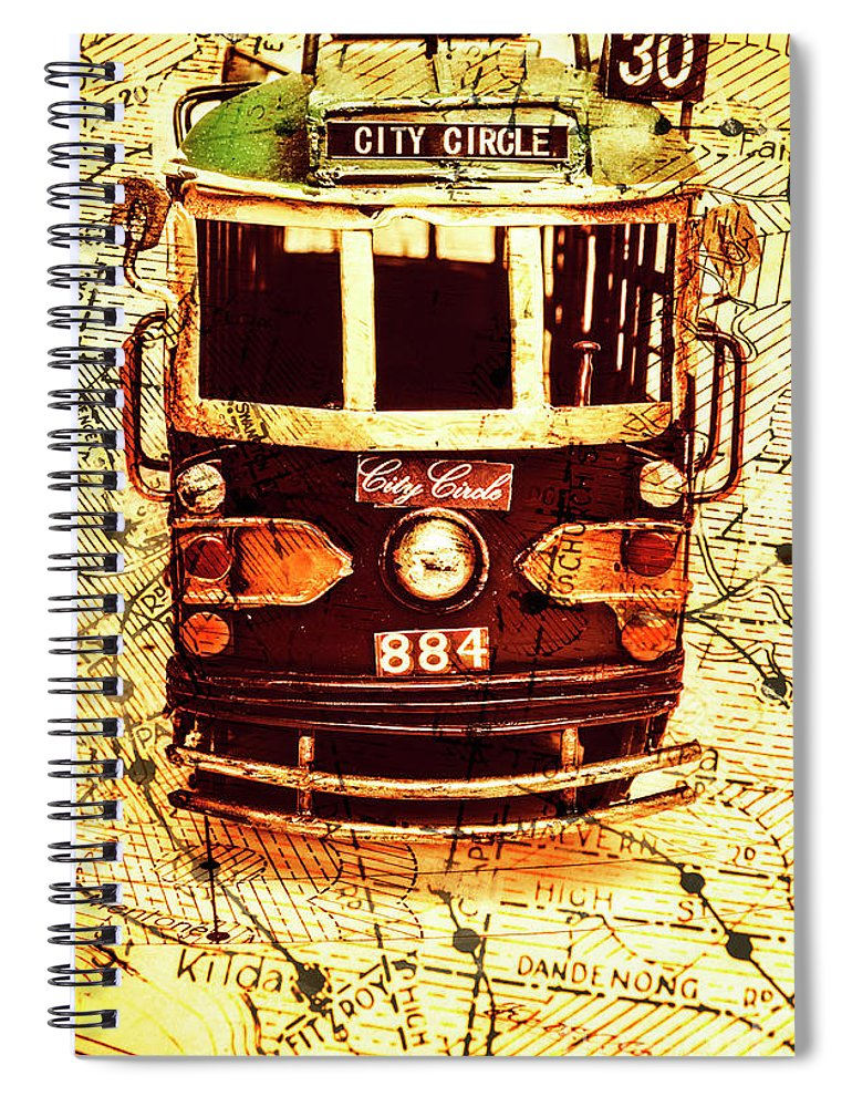 Australia Spiral Notebook featuring the photograph Australia Travel Tram Map by Jorgo Photography - Wall Art Gallery