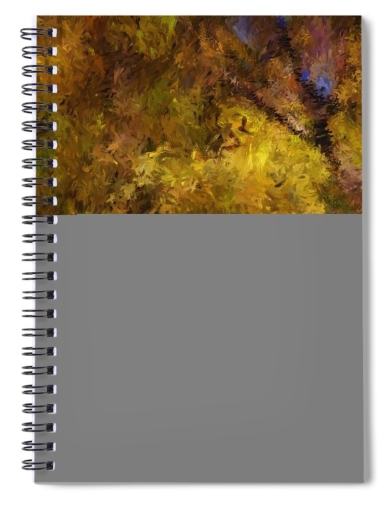 Abstract Digital Painting Spiral Notebook featuring the digital art Autumn Abstract by David Lane
