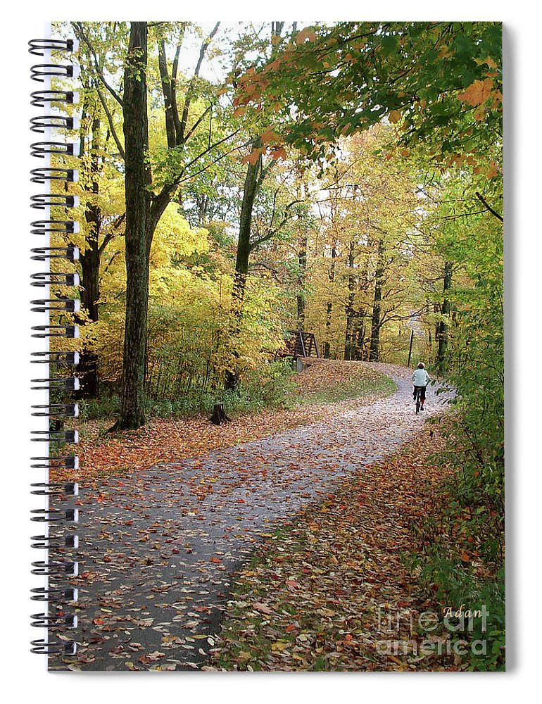 Fall Colors Spiral Notebook featuring the photograph Autumn Bicycling Vertical Two by Felipe Adan Lerma