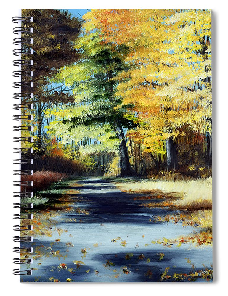 Landscape Spiral Notebook featuring the painting Autumn Colors by Paul Walsh