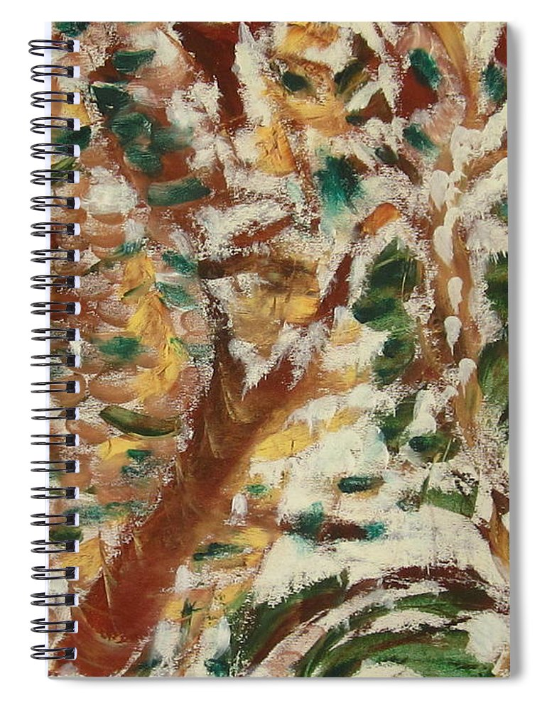 Fall Spiral Notebook featuring the painting Autumn Snow II by Patricia Cleasby