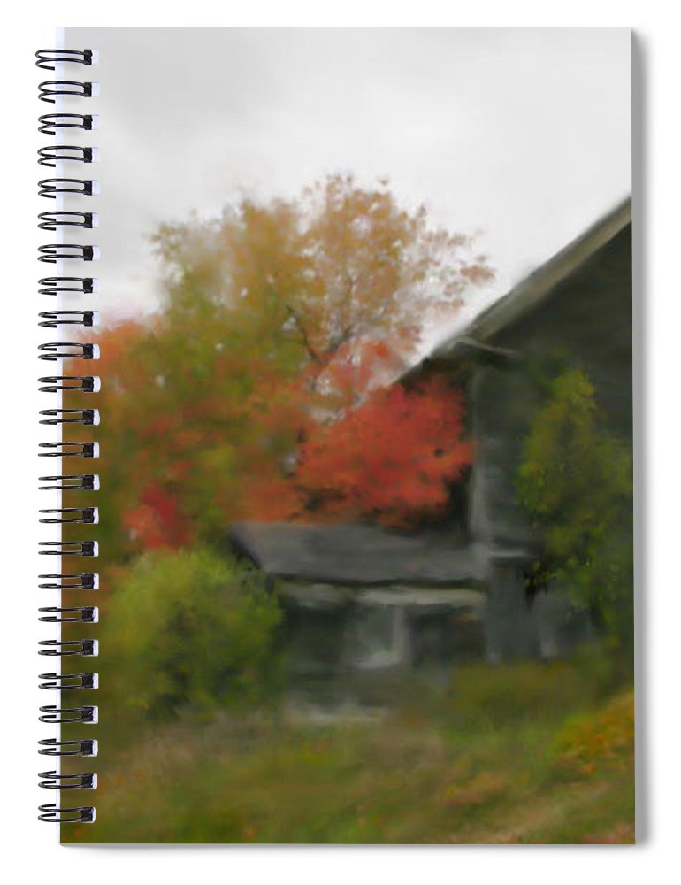 Nature Spiral Notebook featuring the painting Autumn Stroll by Stephen Lucas