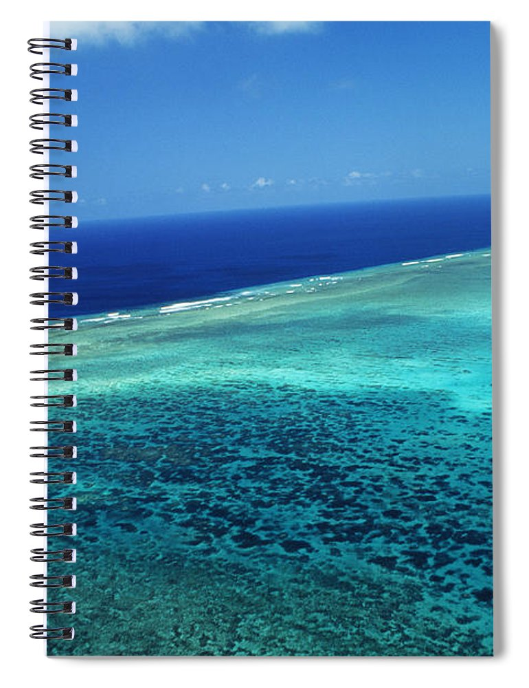 Above Spiral Notebook featuring the photograph Babeldoap Islands by Allan Seiden - Printscapes