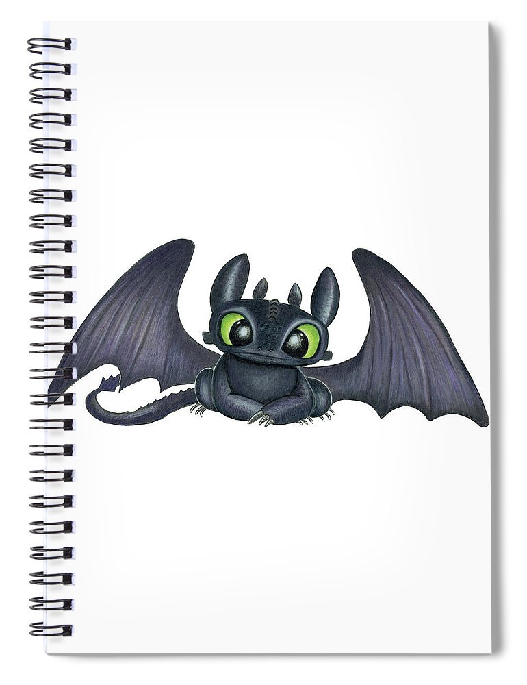 Baby Toothless Spiral Notebook For Sale By Lena Degregory