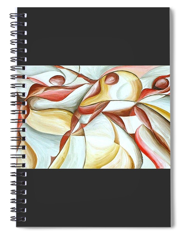 Figure Spiral Notebook featuring the painting Bacchanal by Rowena Finn