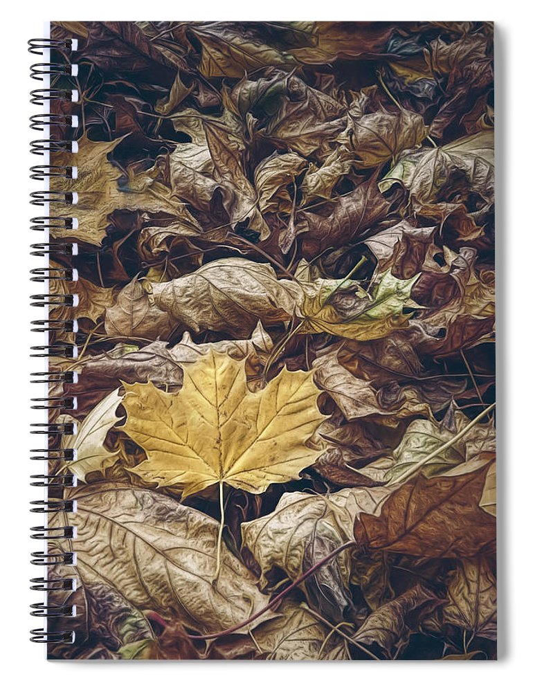 Scott Norris Photography Spiral Notebook featuring the photograph Backyard Leaves by Scott Norris