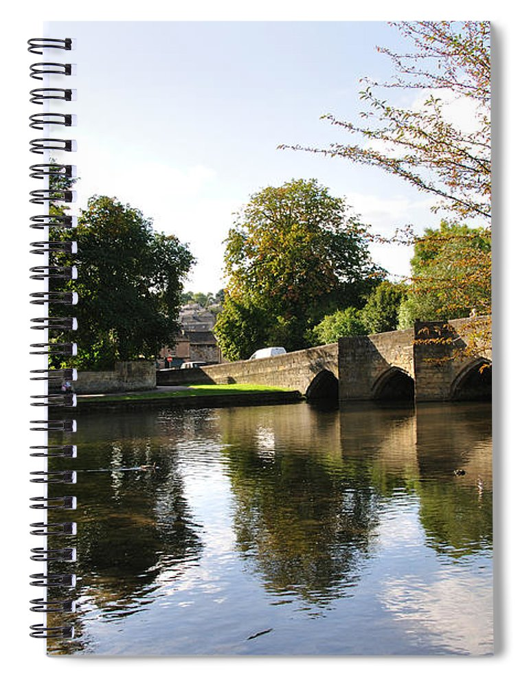 Europe Spiral Notebook featuring the photograph Bakewell Bridge And The River Wye by Rod Johnson
