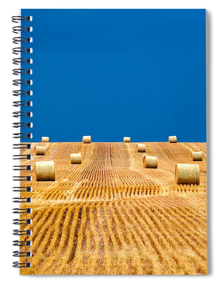 Field Spiral Notebook featuring the photograph Bales On The Storm by Todd Klassy