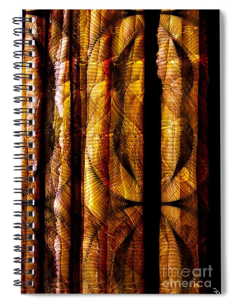 Bamboo Spiral Notebook featuring the digital art Bamboo by Ron Bissett