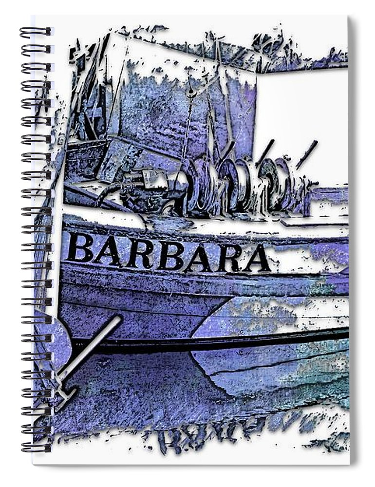 Berry Spiral Notebook featuring the photograph Barbara Berry Blues 3 Dimensional by Di Designs