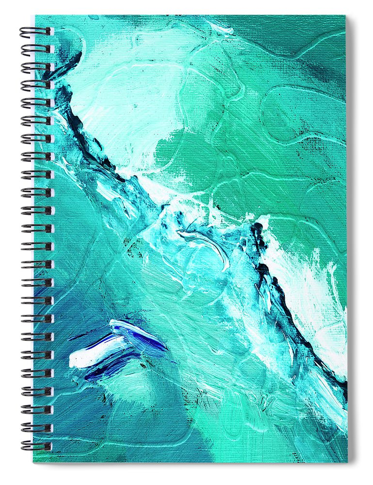 Abstract Spiral Notebook featuring the painting Barrier Reef by Dominic Piperata
