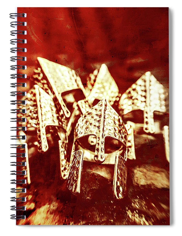 War Spiral Notebook featuring the photograph Battlefield Of Lost Empires by Jorgo Photography - Wall Art Gallery