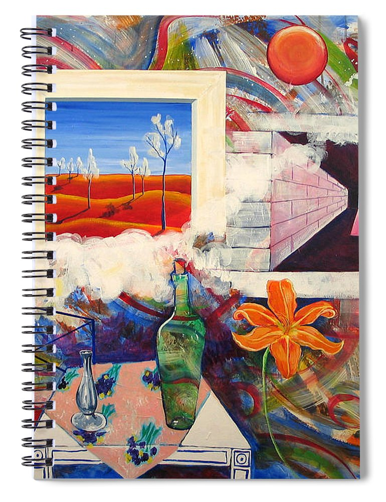 Landscape Spiral Notebook featuring the painting Be Here Now by Rollin Kocsis