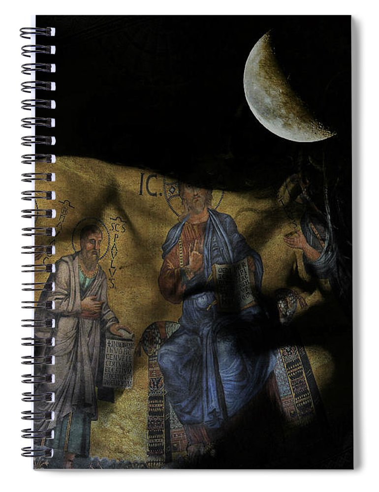 Christ Spiral Notebook featuring the digital art Be The Light In Our Darkness by Paul Lovering