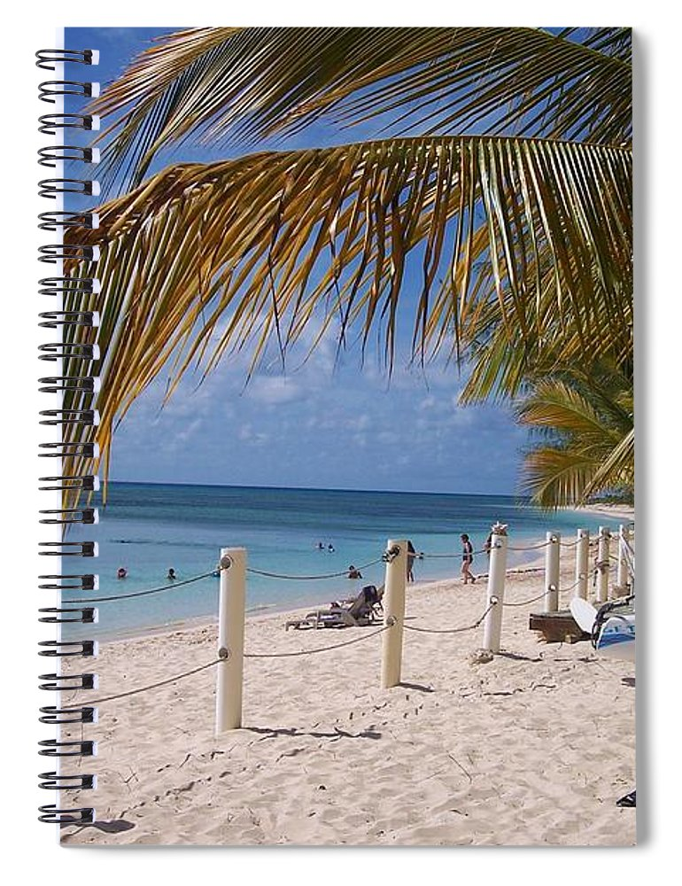 Beach Spiral Notebook featuring the photograph Beach Grand Turk by Debbi Granruth