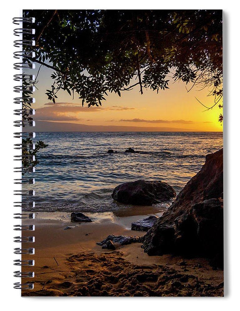 Sunset Spiral Notebook featuring the photograph Beach Sunset by Daniel Murphy
