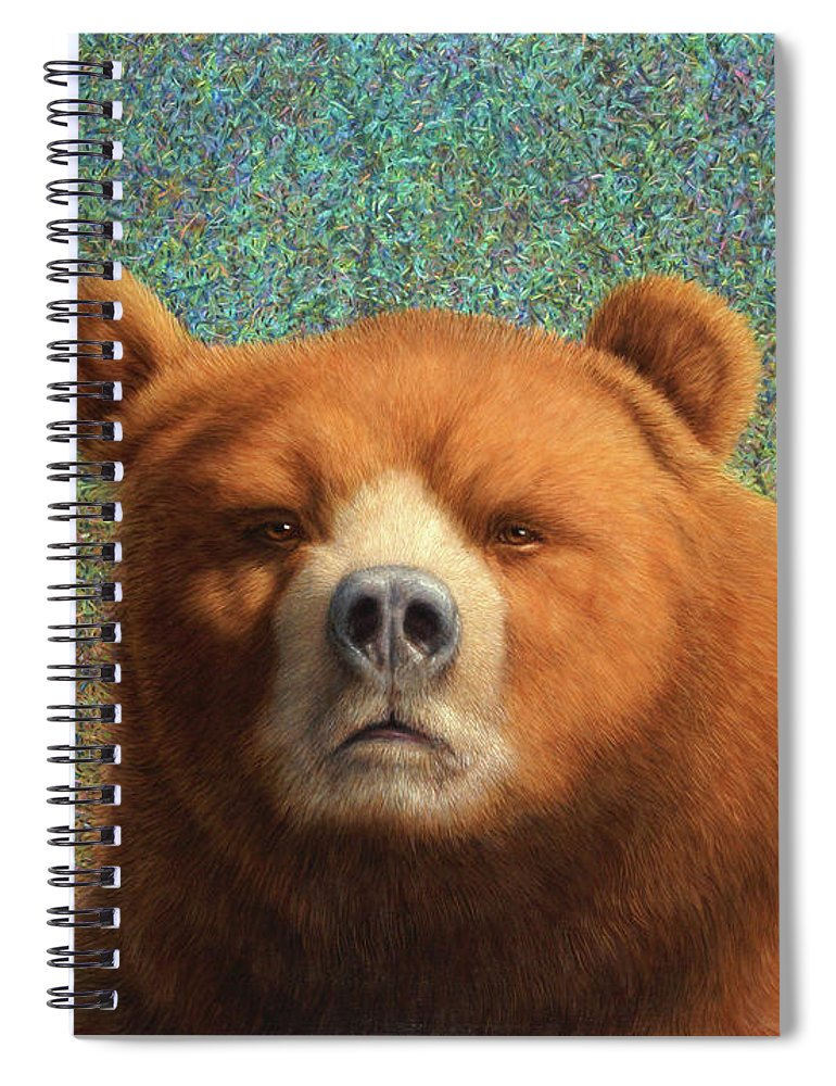 Bear Spiral Notebook featuring the painting Bearish by James W Johnson