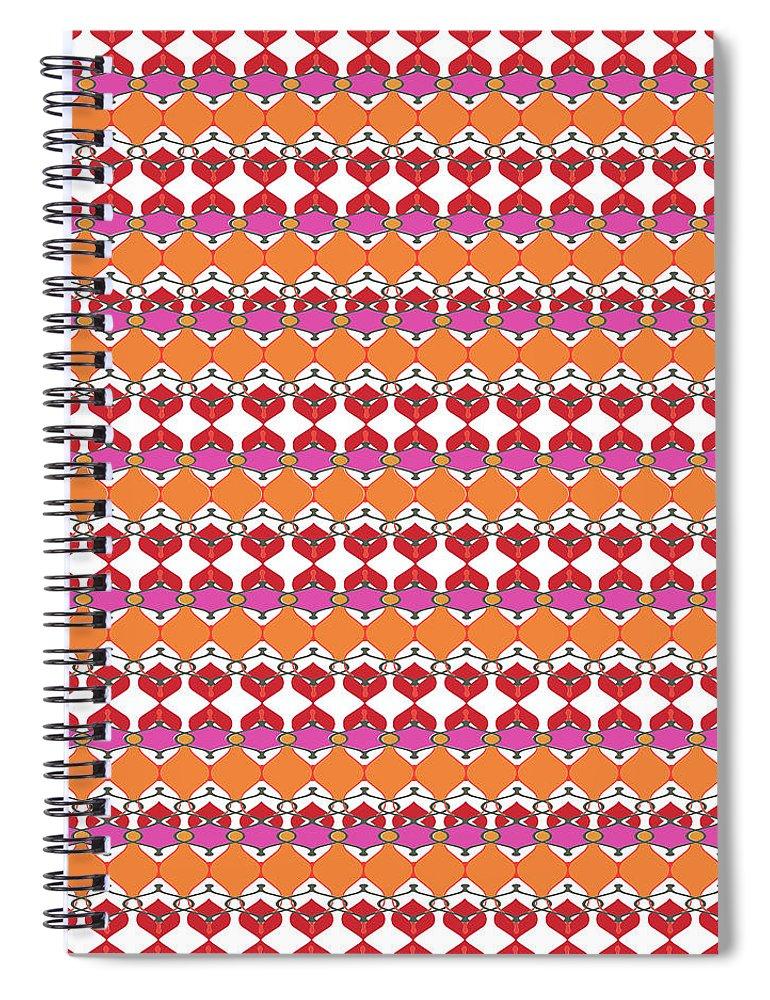 Pink Spiral Notebook featuring the digital art Beaumont by Ceil Diskin