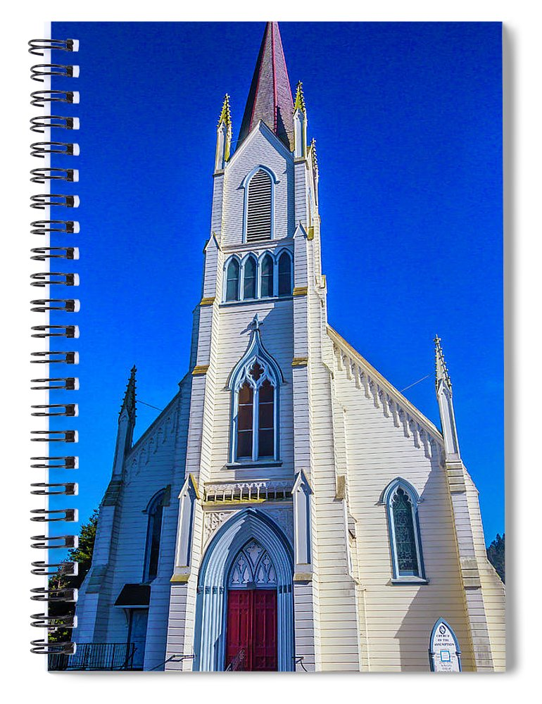 Church Of The Assumption Spiral Notebook featuring the photograph Beautiful Church Of The Assumption by Garry Gay