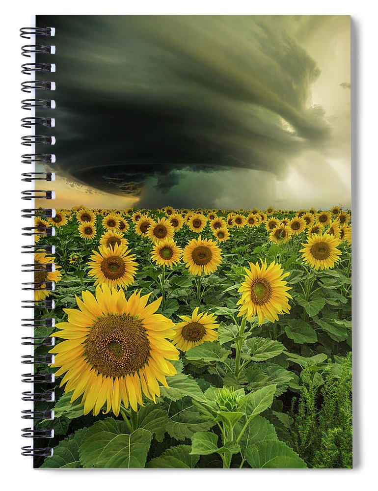 Supercell Spiral Notebook featuring the photograph Beautiful Destruction by Aaron J Groen