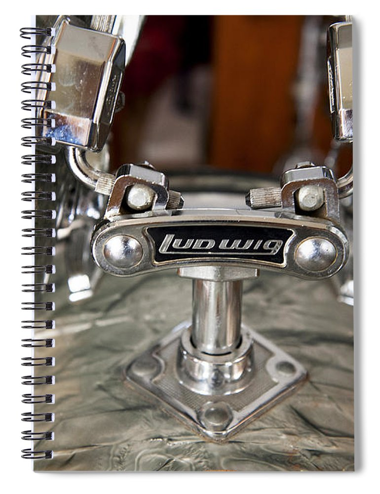 Drums Spiral Notebook featuring the photograph Beauty and the Beat by Stephen Anderson