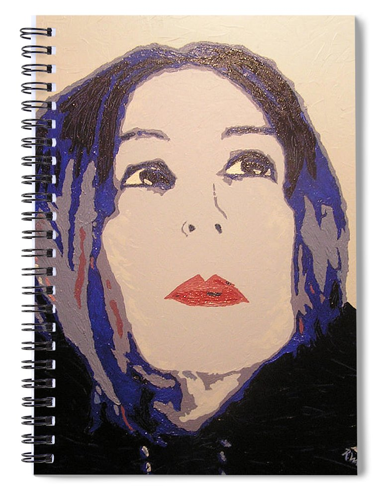 Portrait Spiral Notebook featuring the painting Beauty Beyond the Blue by Ricklene Wren
