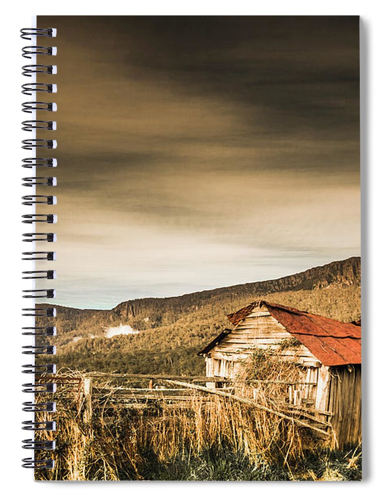 Barn Spiral Notebook featuring the photograph Beauty In Rural Dilapidation by Jorgo Photography - Wall Art Gallery