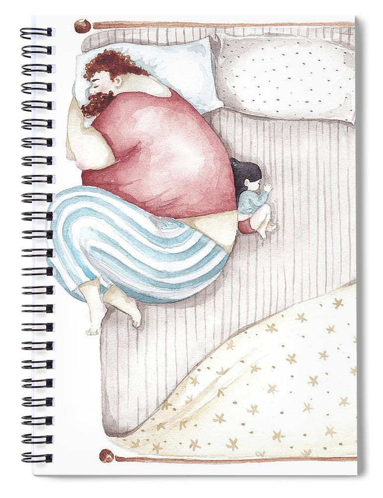 Illustration Spiral Notebook featuring the painting Bed. King size. by Soosh