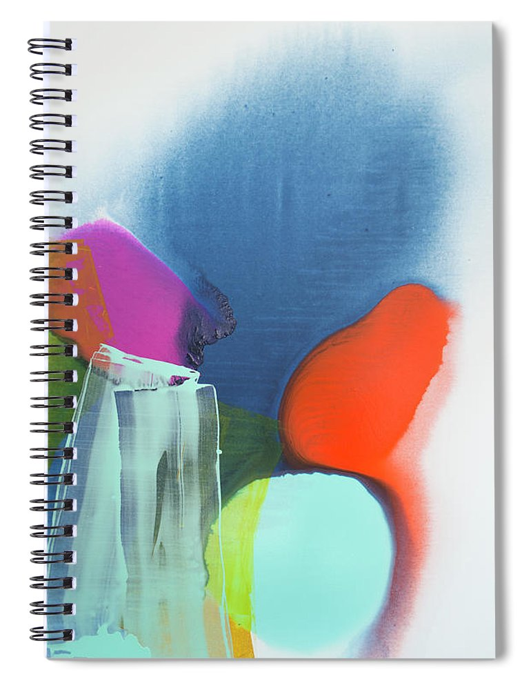 Abstract Spiral Notebook featuring the painting Being Sincere by Claire Desjardins