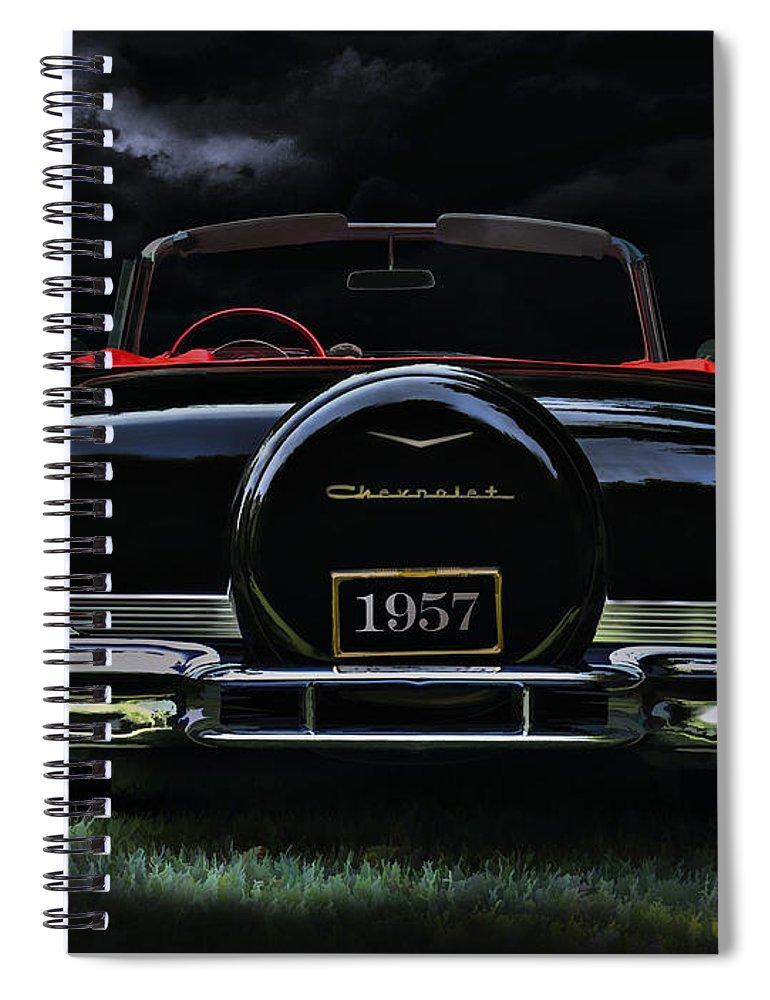 Classic Spiral Notebook featuring the digital art Bel Air Nights by Douglas Pittman