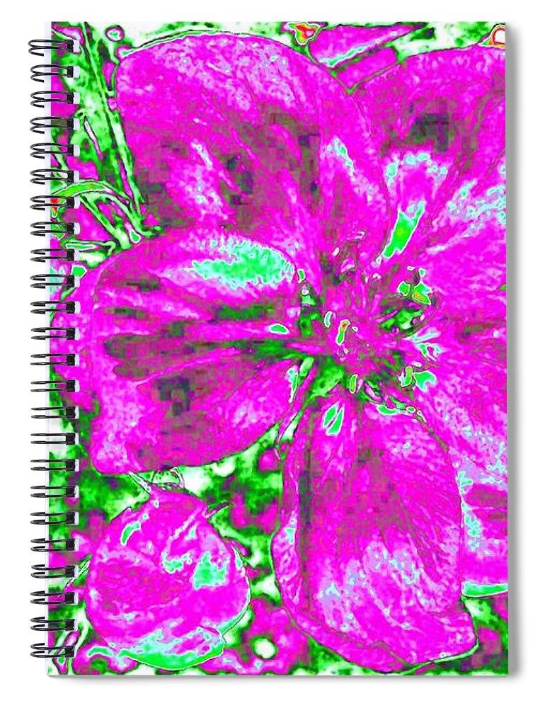 Bella Flora Spiral Notebook featuring the digital art Bella Flora 2 by Will Borden