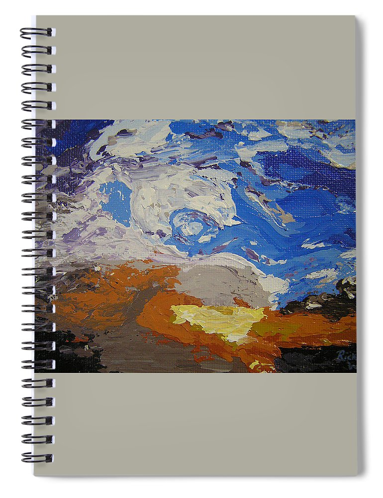 Sunset Spiral Notebook featuring the painting Belonging by Ricklene Wren