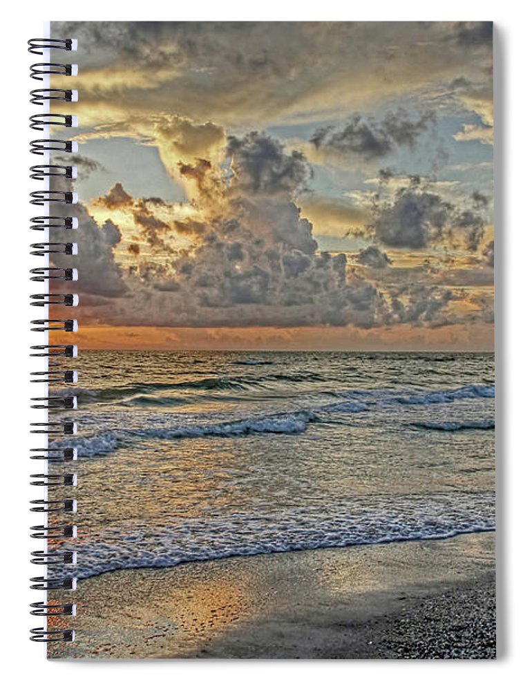 Florida Sunset Spiral Notebook featuring the photograph Beloved - Florida Sunset by HH Photography of Florida
