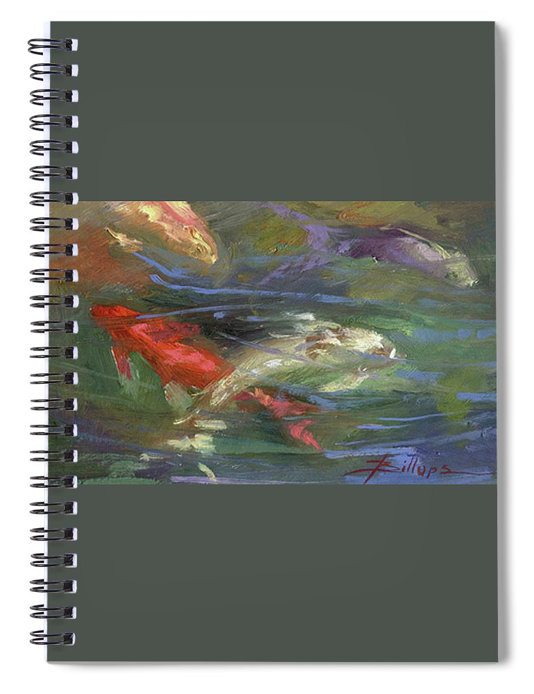 Plein Air Spiral Notebook featuring the painting Below The Surface by Betty Jean Billups