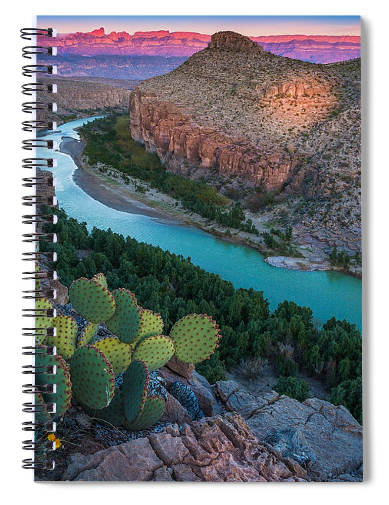 America Spiral Notebook featuring the photograph Big Bend Evening by Inge Johnsson
