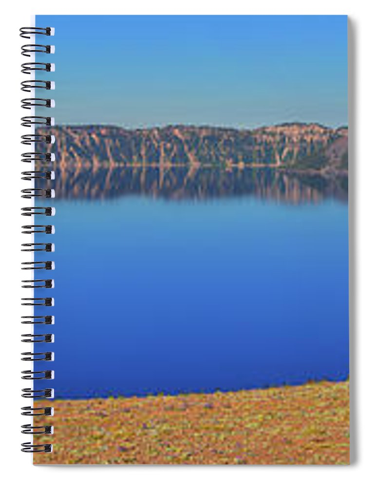 Crater Lake Spiral Notebook featuring the photograph Big Blue by Greg Norrell