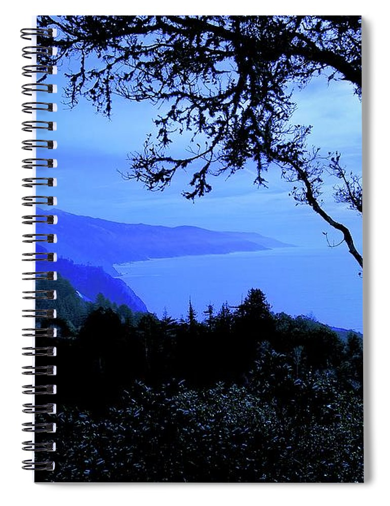 Nature Spiral Notebook featuring the photograph Big Sur Blue, California by Zayne Diamond Photographic