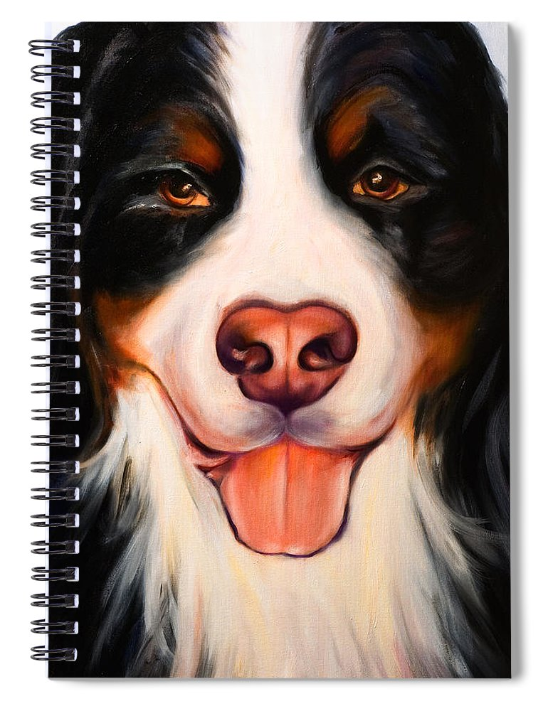 Dog Spiral Notebook featuring the painting Big Willie by Shannon Grissom