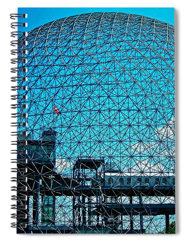 North America Spiral Notebook featuring the photograph Biosphere Montreal by Juergen Weiss