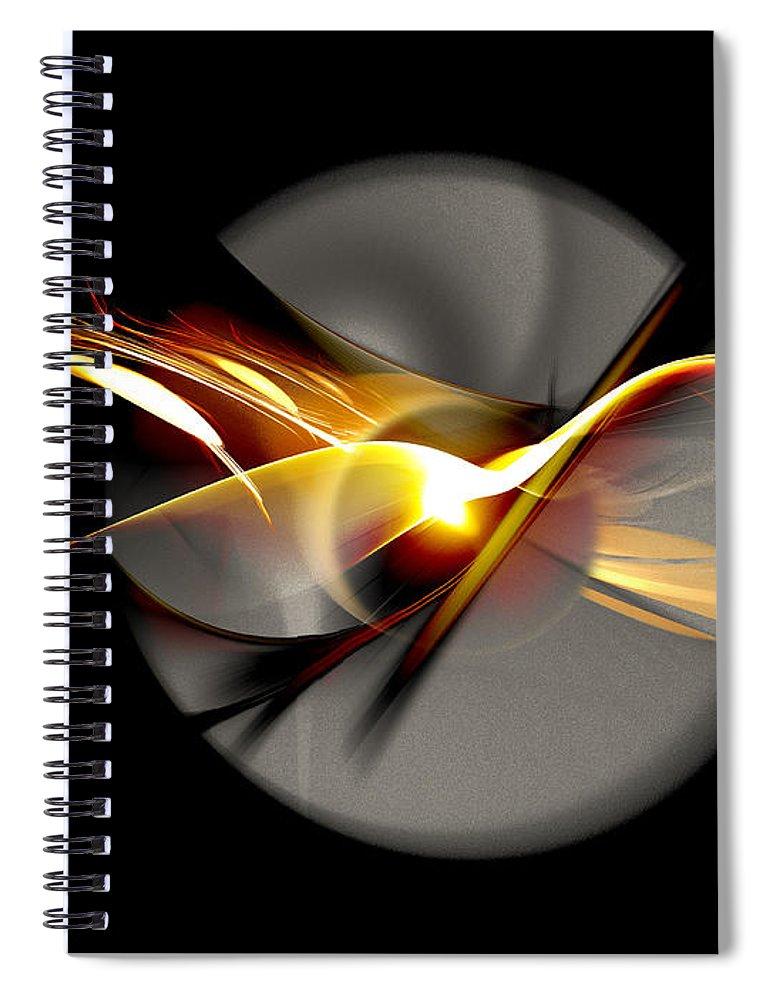 Bird Spiral Notebook featuring the digital art Bird of Passage by Aniko Hencz