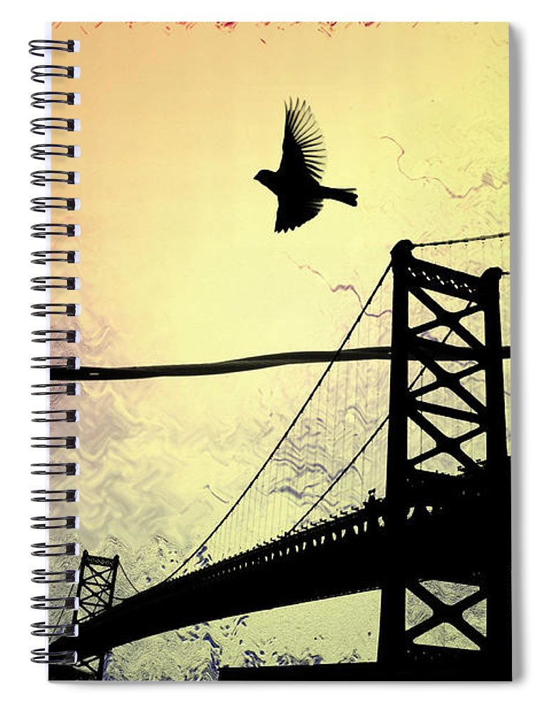Birds Spiral Notebook featuring the photograph Birds Eye View by Bill Cannon