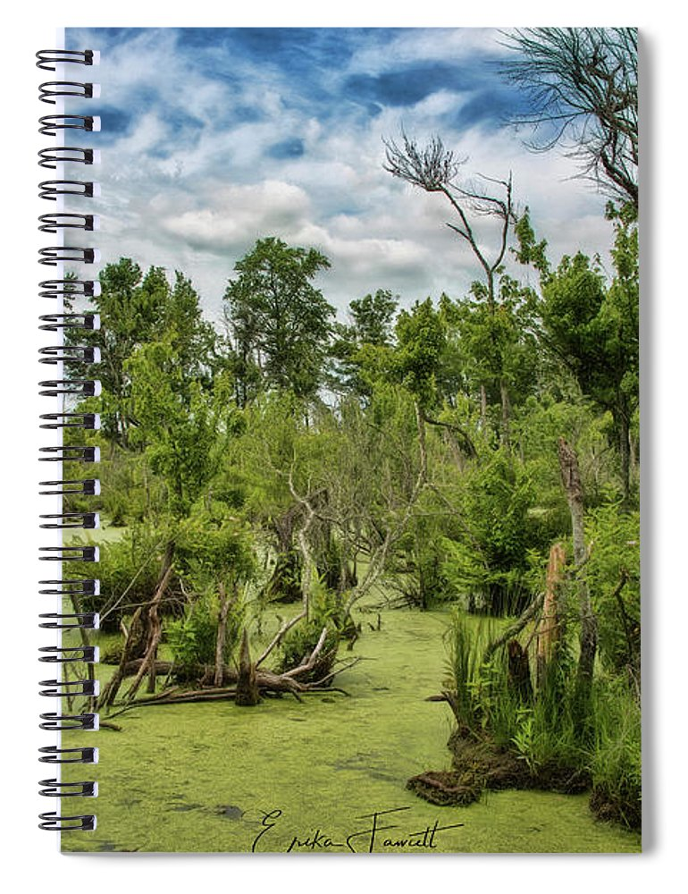 Blackwater Spiral Notebook featuring the photograph Blackwater Swamp by Erika Fawcett
