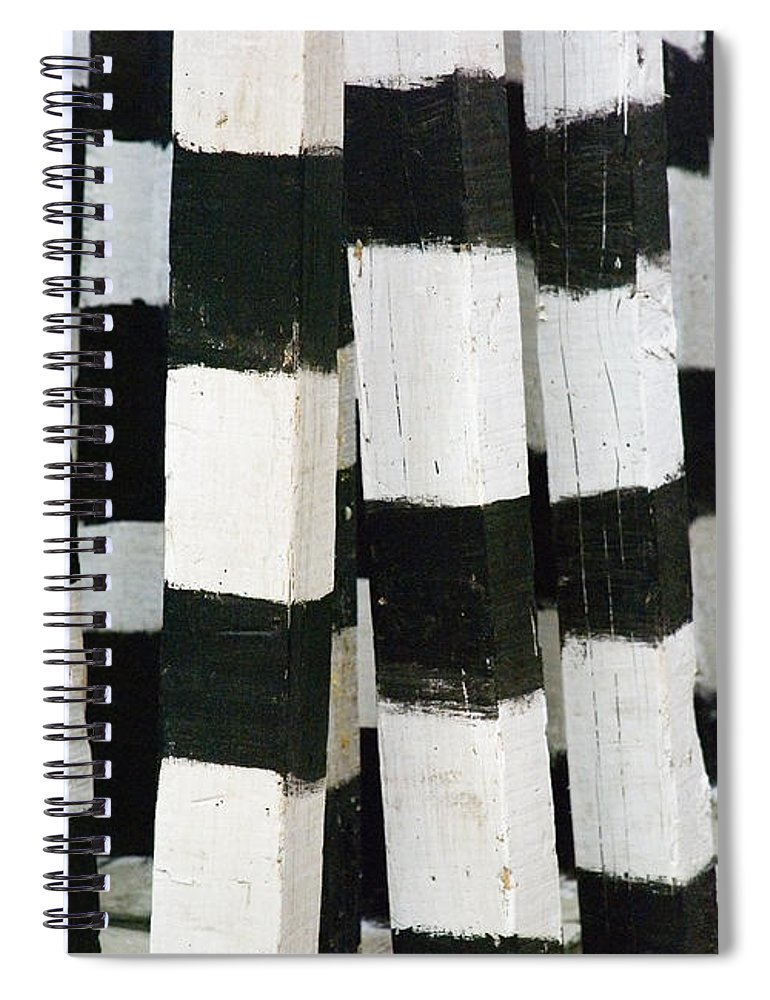 Skip Hunt Spiral Notebook featuring the photograph Blanco y Negro by Skip Hunt