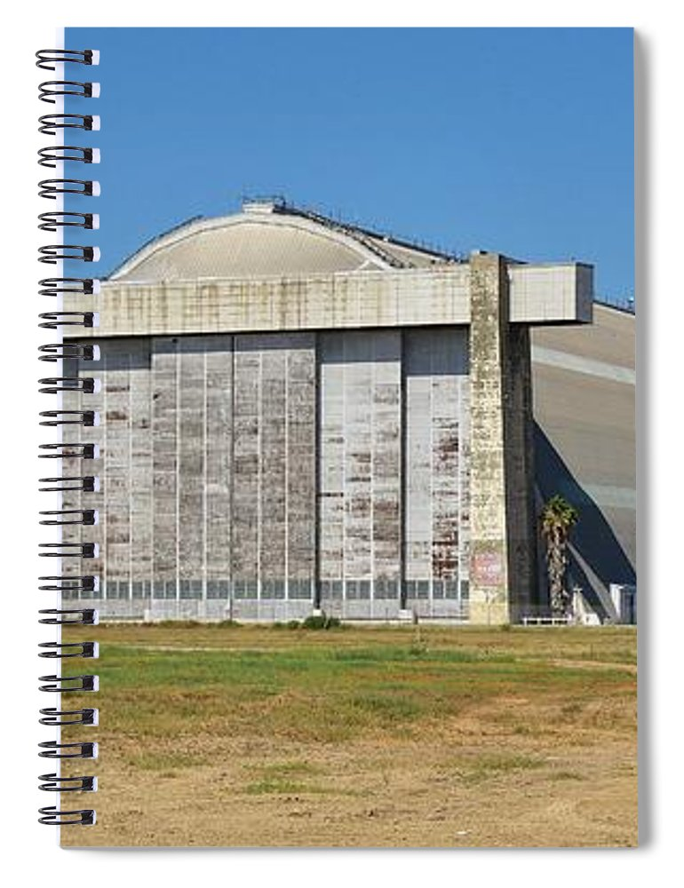Linda Brody Spiral Notebook featuring the photograph Blimp Hanger From Closed El Toro Marine Corps Air Station by Linda Brody