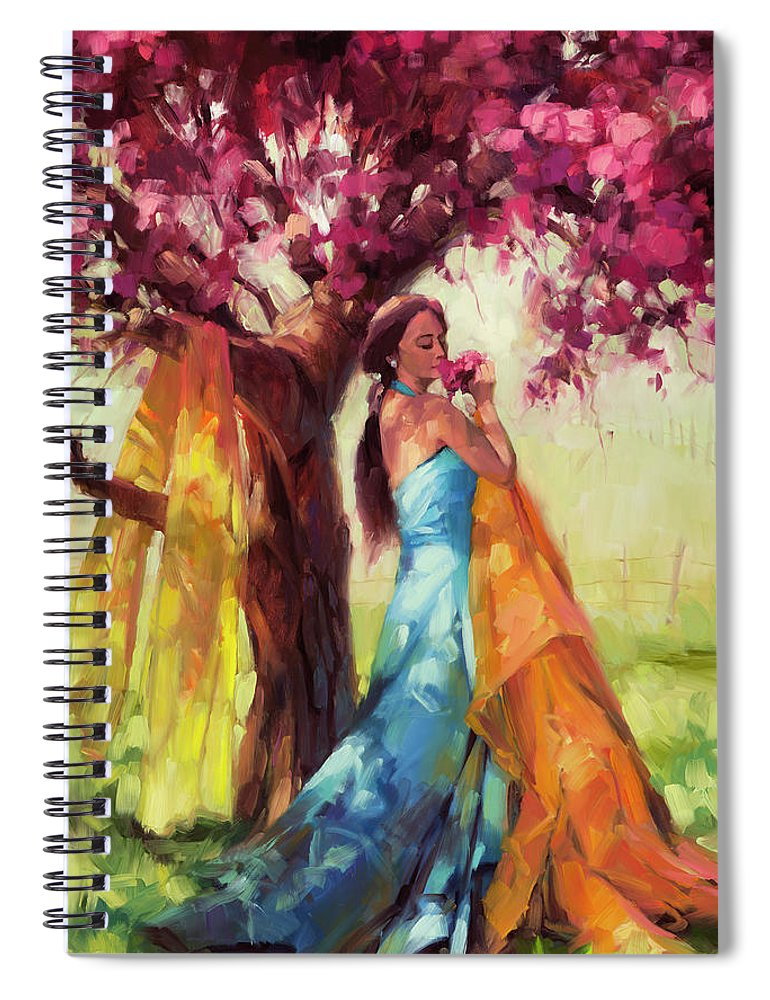 Country Spiral Notebook featuring the painting Blossom by Steve Henderson