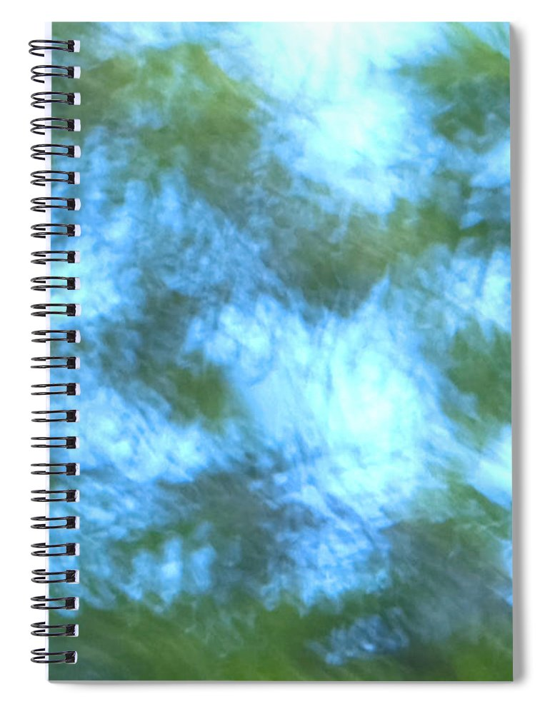 Natanson Spiral Notebook featuring the mixed media Blowing In The Wind by Steven Natanson