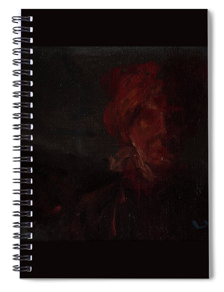 Portrait Spiral Notebook featuring the painting Blown by Lynne Guess