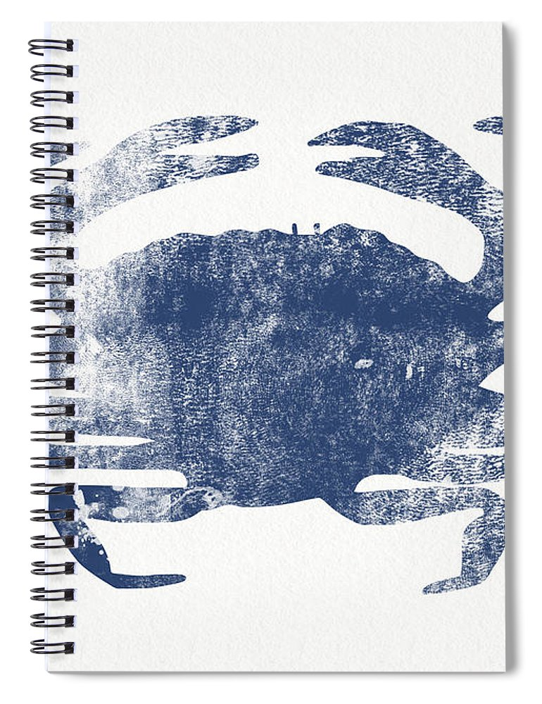 Cape Cod Spiral Notebook featuring the painting Blue Crab- Art By Linda Woods by Linda Woods