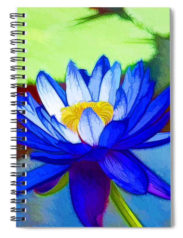Blue Lotus Flower Spiral Notebook For Sale By Jeelan Clark